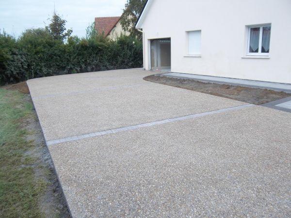 B ton d sactiv pour les surfaces ext rieures - Resine pour terrasse beton ...