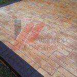 Béton imprimé terrasse bois