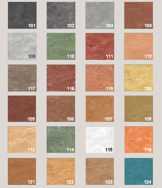 couleurs beton